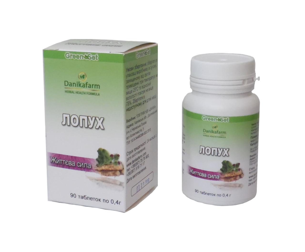 БАД Корень лопуха корректор обмена веществ 90 таблеток Даникафарм