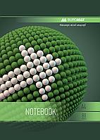 Тетрадь на пружине SPHERE А-4, 80л., клетка, картонная обложка, зеленый BM.24452101-04 Buromax (отеч.пр-во)