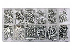 Гайки, шурупи, гвинти, шайби різних розмірів YATO в пластиковій коробці; наб. 347 шт. YT-06771