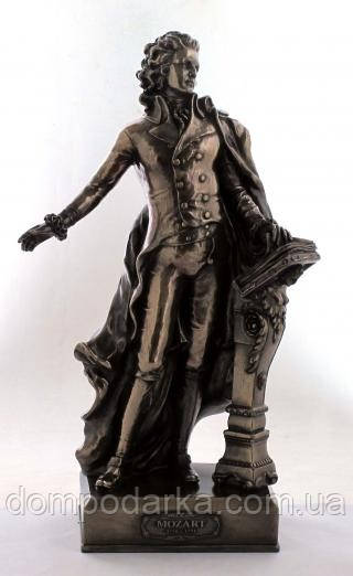 Настольная статуэтка Вольфганг Амадей Моцарт из полистоуна с бронзовым напылением Veronese