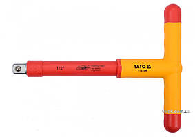 """Вороток Т-образный диэлектрический YATO 1/2"""" 207 х 106 мм VDE до 1000 В YT-21096"""