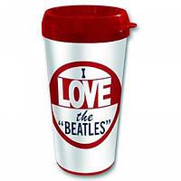 "Кружка в дорогу ""I Love The Beatles"""