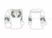 Заготовка женской блузы для вышивки бисером «Сказочный цветочек»