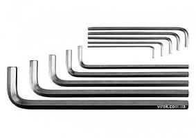 Набор ключей шестигранных Г-образных YATO М3-17 мм 10 шт YT-0519