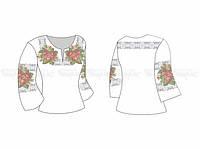 Заготовка женской блузы для вышивки бисером «Царевна»