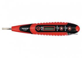 Индикатор напряжения цифровой YATO 12-250 В YT-28630