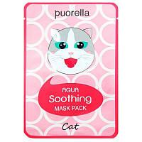 Маска для лица Puorella Aqua Soothing Mask Pack Cat