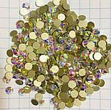Стразы холодной фиксации (на клей). Premium Crystal AB SS8 Non-hot Fix 100 шт., фото 2