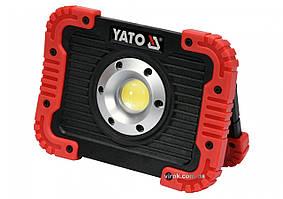 Прожектор светодиодный аккумуляторный YATO Li-Ion 3.7 В 4.4 Ач 10 Вт 800 лм YT-81820