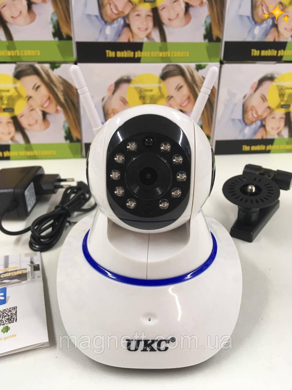 Поворотная IP камера видеонаблюдения UKC WiFi Camera 360 ° 2 антенны