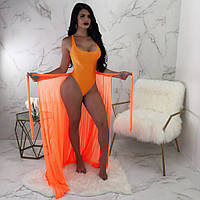 Юбка пляжная оранжевая