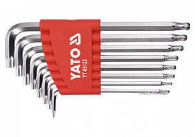 Набор ключей ТОRХ Г-образных с шаром YATO Т9-Т40 8 шт YT-05123