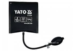 Подушка монтажна, надувна YATO для навантаження - 135 кг, висоти 2-50 мм, розмір 150х160 мм YT-67380