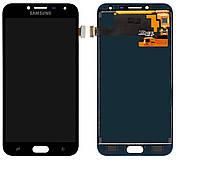 Дисплей + сенсор (модуль) экран Samsung J400, Galaxy J4 2018 черный TFT с регулировкой яркости