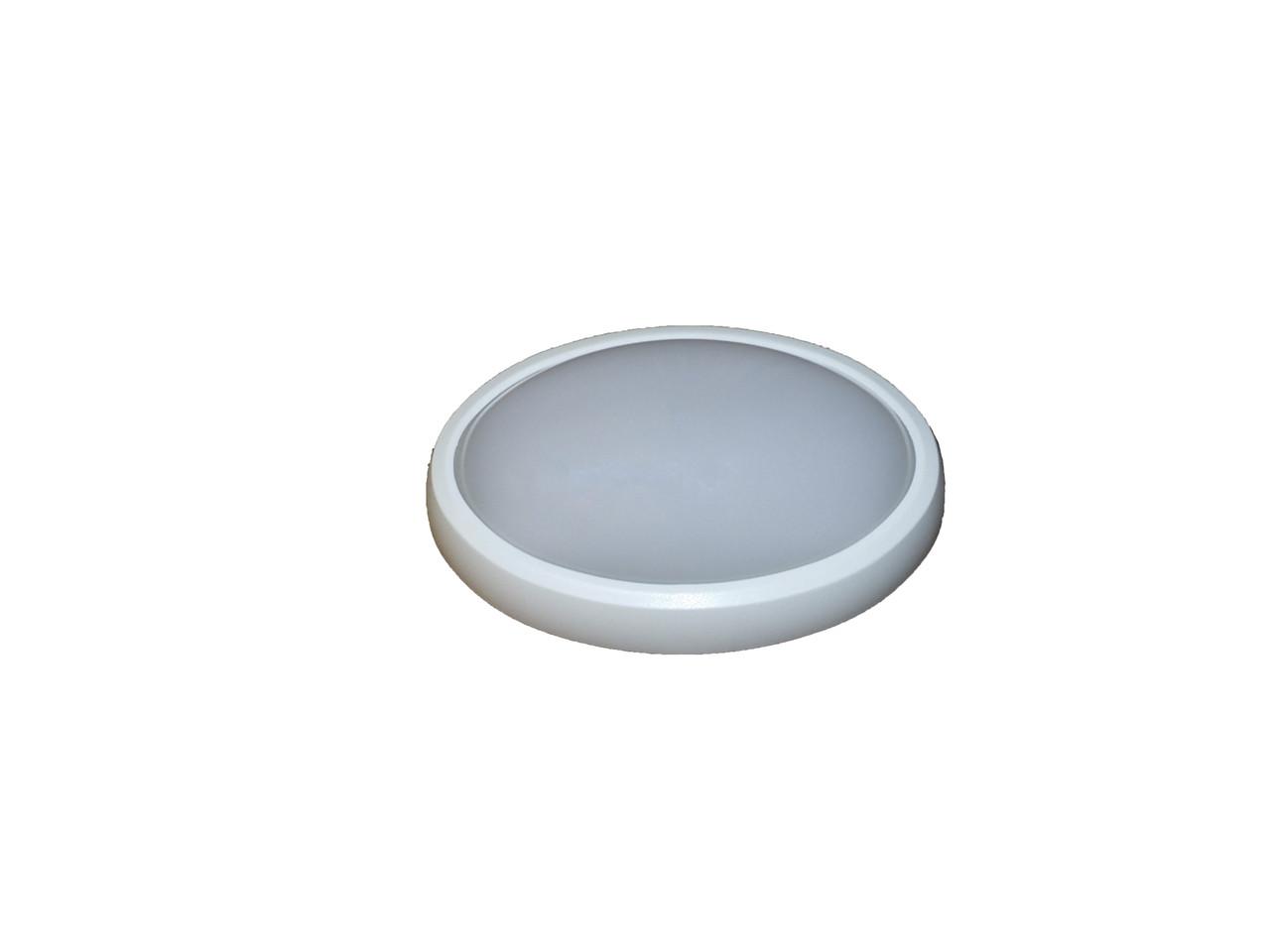 Светодиодный светильник ЖКХ накладной влагозащищённый ELCOR 713009 овал 12Вт (240x160) 4200K 900Лм IP54