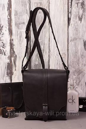 Мужская сумка 'City bag' из натуральной кожи (ручная работа), фото 2