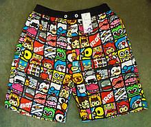 Пляжные яркие летние шорты  подростковые мужские