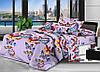 Полуторный комплект постельного белья  Бабочки 668