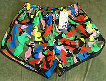 Пляжные яркие летние женские шорты и парные мужские и женские