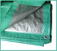 Тент 4х6 м. серо-зеленый с кольцами плотность 90  г/м² (тарпаулин)