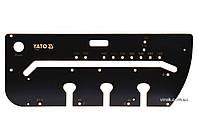 Шаблон для сполучень кухонних стільниць YATO 1000 х 390 х 53 мм, макс. відстань- 700 мм