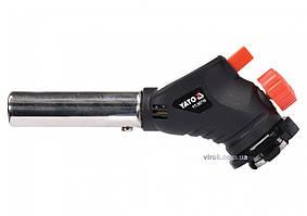Газовая горелка с пьезоподжигом YATO 360° 1 кВт 1000°С YT-36710