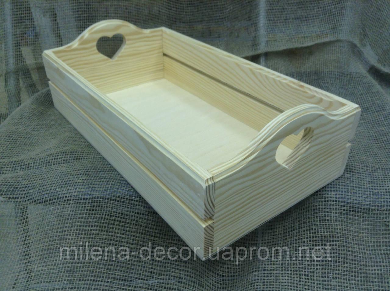 Ящик деревянный на рейках (большой)