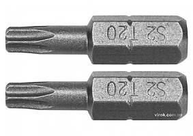 "Насадка отверточная YATO ""TORX"" T20 x 25 мм HEX 1/4"" AISI S2 2 шт YT-77904"