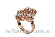 Кольцо золотое женское с топазом 11951