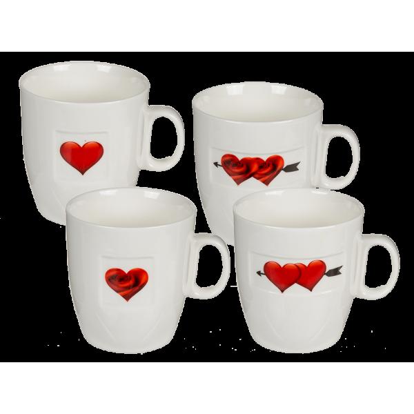 Кружка ООТВ Heart rose керамическая