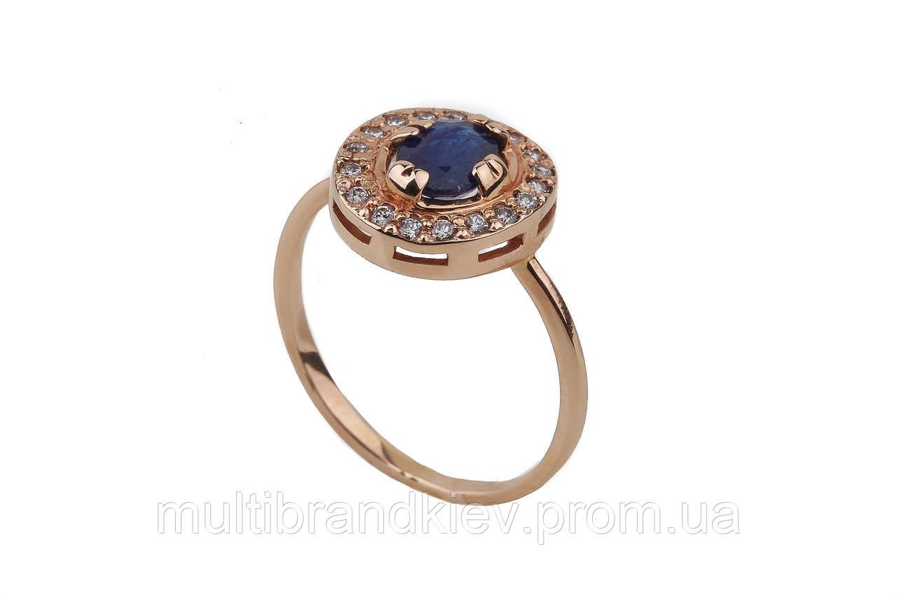 Кольцо золотое женское с топазом 11917