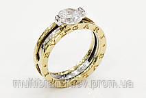 Золотое кольцо-трансформер с фианитом