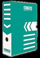 Бокс для архивации документов 80 мм Buromax бирюзовый