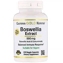 "Экстракт босвелии California Gold Nutrition ""Boswellia Extract"" с куркумой, 500 мг (120 капсул)"