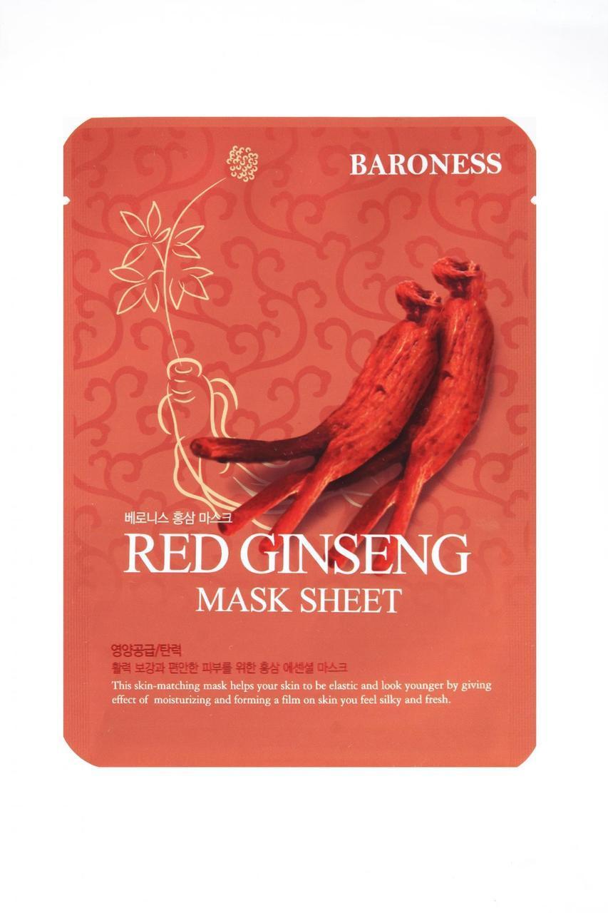 Маска тканевая Baroness Экстракт красного женьшеня