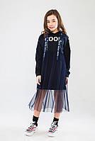 Комплект платье с туникой Лотта цвет синий тм Suzie размер 158