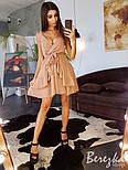 Женский сарафан в горошек с поясом (в расцветках), фото 8