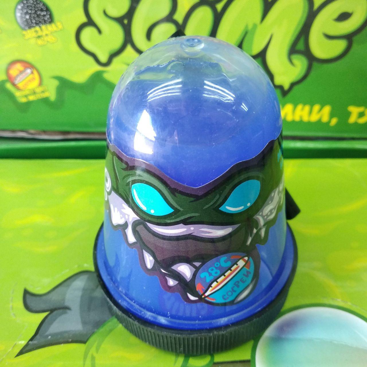 Ніндзя слайм меняеет колір на блакитний slime ninja