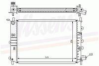 Радиатор охлаждения FORD ESCORT V-VI EA 90- 1.8 D , Nissens 62164A