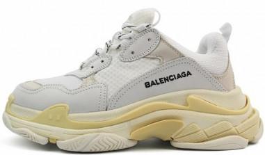 """Женские кроссовки Balenciaga Triple S """"White Blanc"""" ( в стиле Баленсиага )"""