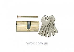 Серцевина замка VOREL латунна асиметрична, l==67мм, 31/36мм 6 ключів [12/72]