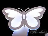 Настенный светильник в детскую с бабочками 8067/2WH, фото 5