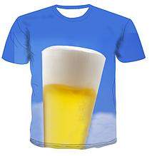 Яркая футболка Больших размеров XXXL 4XL рисунок ПИВО ОТПУСК