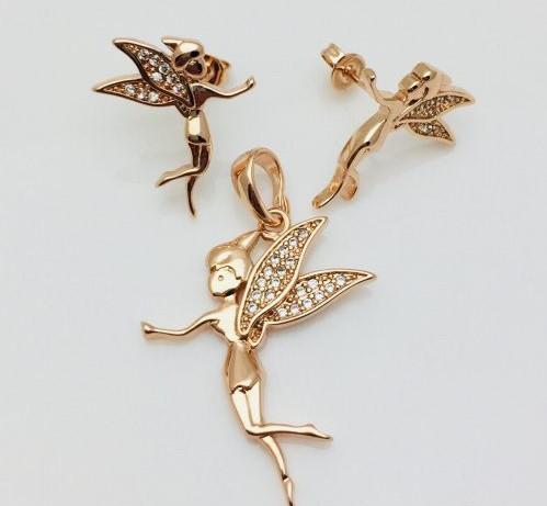 Набор Лесная фея, серьги гвоздики+ кулон