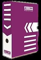 Бокс для архивации документов 100 мм Buromax фиолетовый