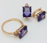 Набор Монако 2 серьги + кольцо, размер кольца  20