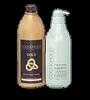 Набор Gold для процедуры кератинового восстановления и выпрямления волос