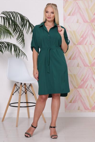 Элегантное женское летнее платье рубашечного фасона в 3-х расцветках батал с 48 по 58 размер