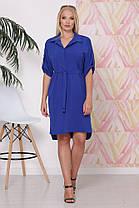 Элегантное женское летнее платье рубашечного фасона в 3-х расцветках батал с 48 по 58 размер, фото 3