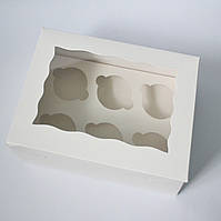 Коробка на 6 капкейков (с окошком)